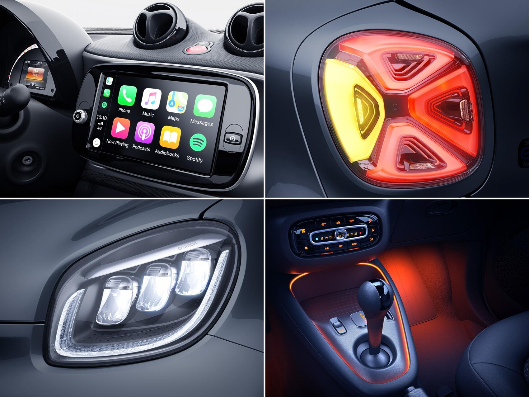 smart eq split interieur lights
